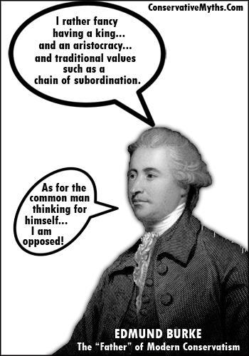 Edmund Burke and the conservative chain of subordination.